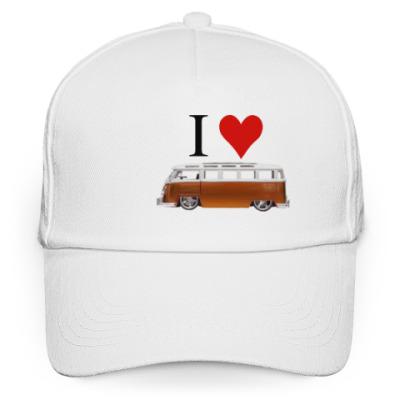 Кепка бейсболка I Love Bus