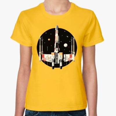 Женская футболка Star Wars X крыло