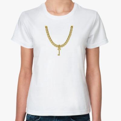 Классическая футболка Ключик от сердца