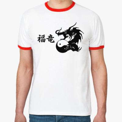 Футболка Ringer-T Дракон приносящий счастье