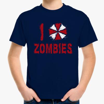 Детская футболка I Love Zombies