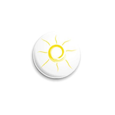 Значок 25мм солнце