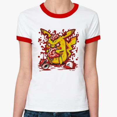 Женская футболка Ringer-T Пикачу Монстр