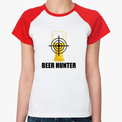 Женская футболка реглан Beer Hunter
