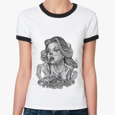 Женская футболка Ringer-T Chicano Girl