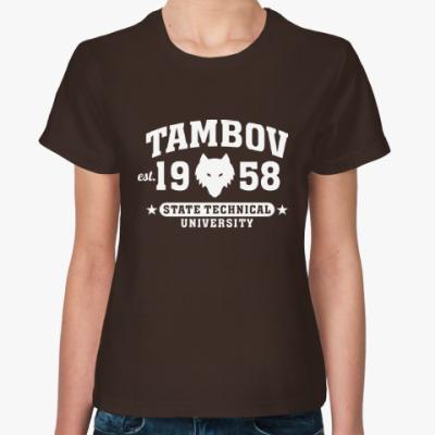 Женская футболка Символика ТГТУ. Тамбов. (ТИХМ)