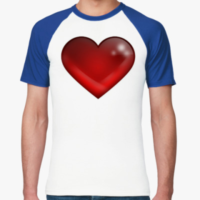 Футболка реглан Большое сердце