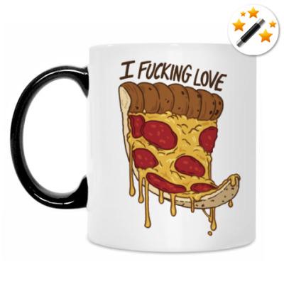 Кружка-хамелеон 'Я чертовски люблю пиццу'