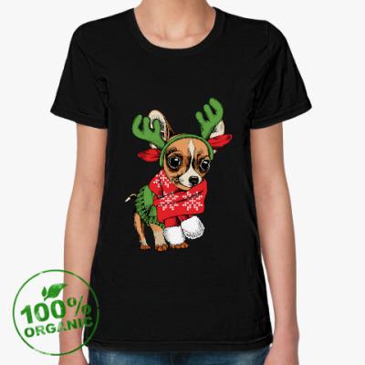 Женская футболка из органик-хлопка Год собаки