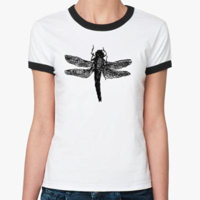 Женская футболка Ringer-T Dragonfly