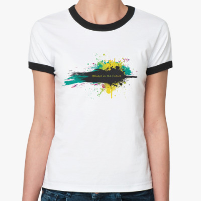 Женская футболка Ringer-T  'Believe'