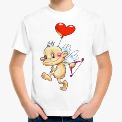 Детская футболка КУПИДОН С СЕРДЕЧКОМ