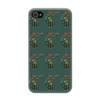 Чехол для iPhone 4/4s Узор из зомби котят