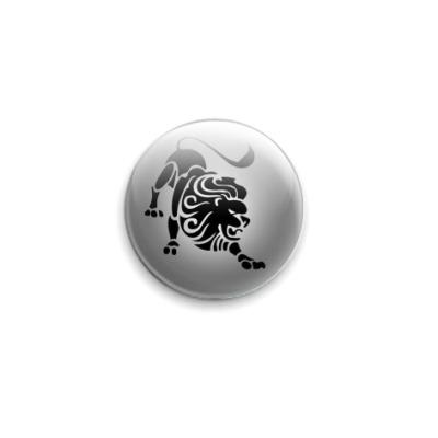 Значок 25мм Лев