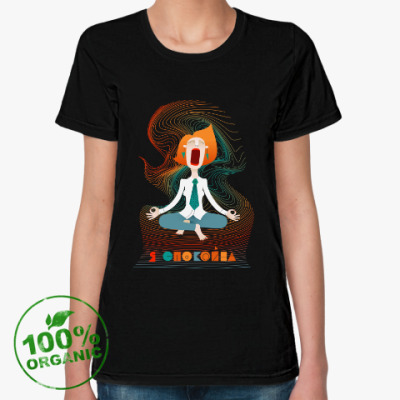 Женская футболка из органик-хлопка Я спокойна