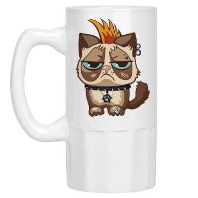 Пивная кружка Кот Тард (Grumpy Cat) неформал