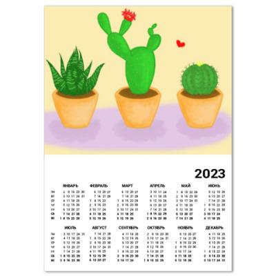 Календарь Кактусы