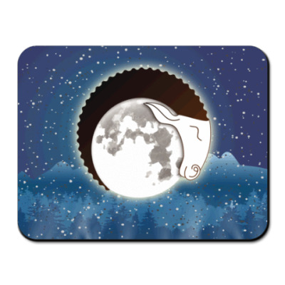 Коврик для мыши Лунный Баран