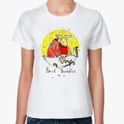 Классическая футболка Лось и морж