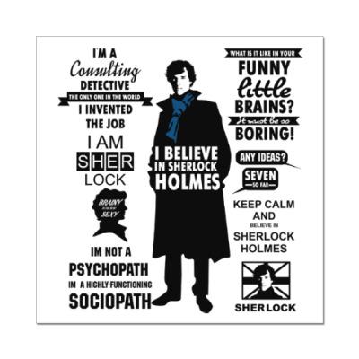 Наклейка (стикер) Sherlock Holmes  (TV series)