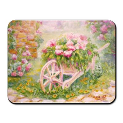 Коврик для мыши Тележка с цветами