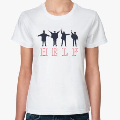 Классическая футболка Beatles Help