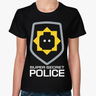 Женская футболка Секретная Полиция