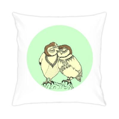 Подушка Совы влюбленны