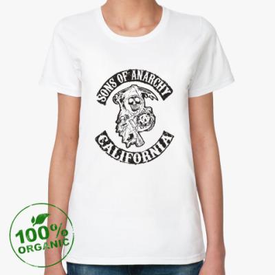 Женская футболка из органик-хлопка Сыны Анархии - Калифорния