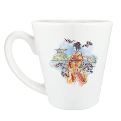 Чашка Латте Япония - сакура