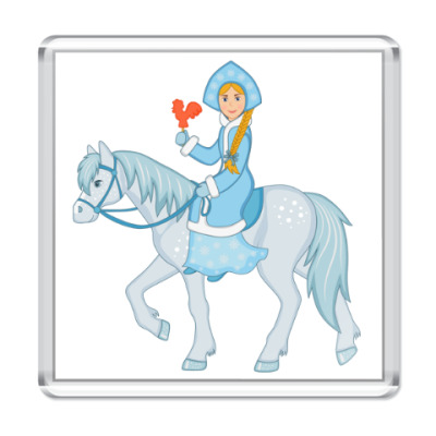 Магнит Snow Maiden with lollipop cock