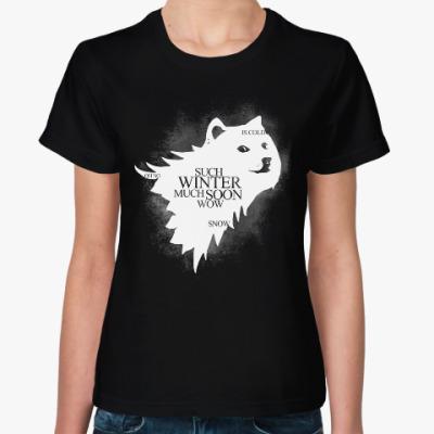 Женская футболка Doge Stark