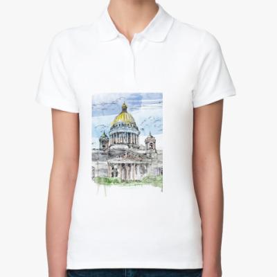 Женская рубашка поло Исаакиевский собор . Питер