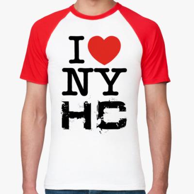 Футболка реглан  I love NYHC