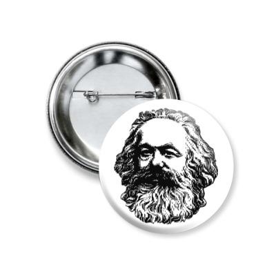 Значок 37мм  37 мм  Карл Маркс