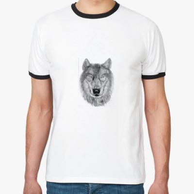 Футболка Ringer-T волк