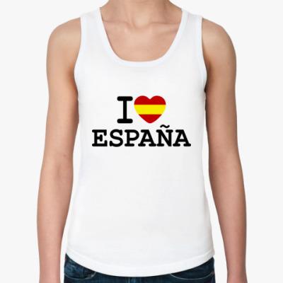 Женская майка I Love España