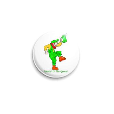 Значок 25мм  'Носим зеленое'