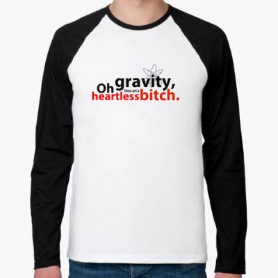 Футболка реглан с длинным рукавом  OhGravity