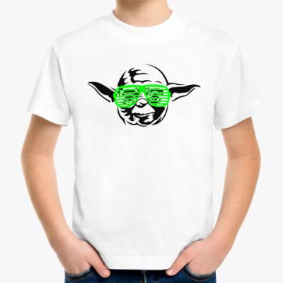 Детская футболка Йода в очках