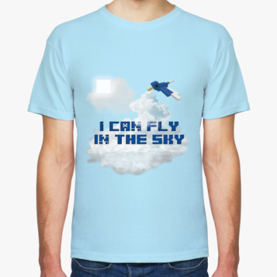 Футболка Minecraft - I can fly in the sky