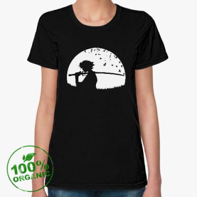 Женская футболка из органик-хлопка Самурай