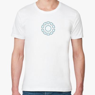 Футболка из органик-хлопка Iron man arc reactor ( Реактор Тони Старка)