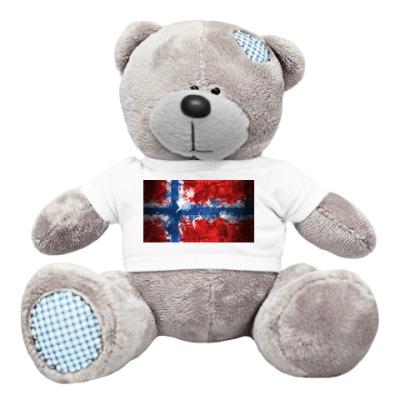 Плюшевый мишка Тедди Норвежский флаг