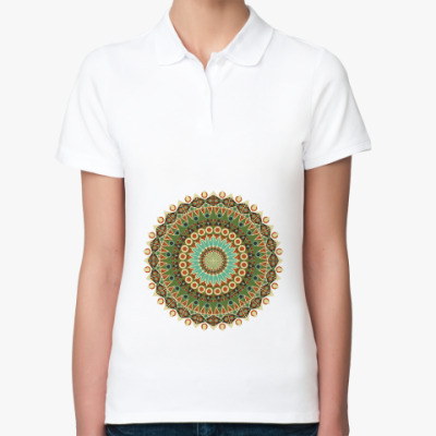 Женская рубашка поло Мандала