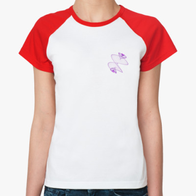 Женская футболка реглан Цветок