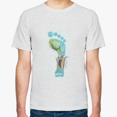 Футболка Footprints/След на песке