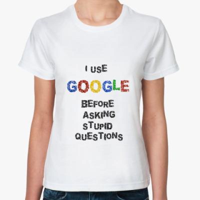 Классическая футболка I use Google