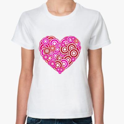 Классическая футболка Сердце-круги