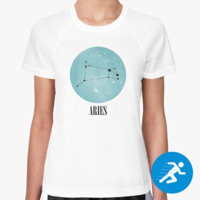 Женская спортивная футболка Знак зодиака Овен